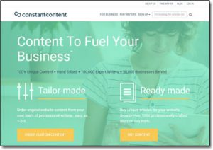 Constant Content Website Screenshot