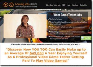 Gaming Jobs Online Website Screenshot
