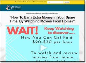 Movie Review Profits System Website Screenshot