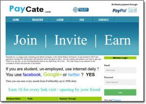 PayCate.com Website Screenshot