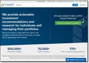 Stansberry Research Website Screenshot