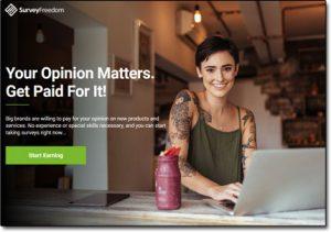 Survey Freedom Website Screenshot