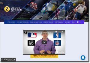 Z Code System Website Screenshot