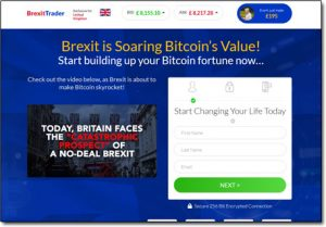 Brexit Trader Website Screenshot