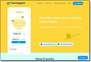 HoneyGain App Website Screenshot