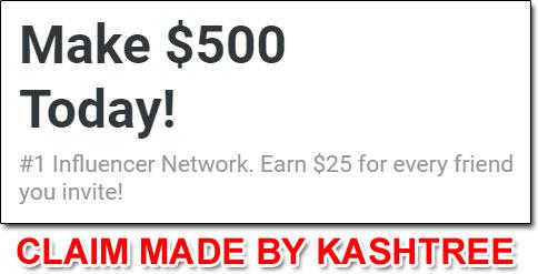 KashTree Income Claim