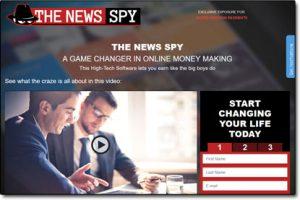 The News Spy Trading App Website Screenshot
