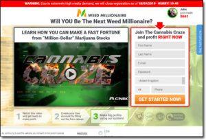 Weed Millionaire System Website Screenshot