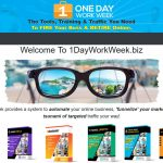 1 Day Work Week Website Screenshot