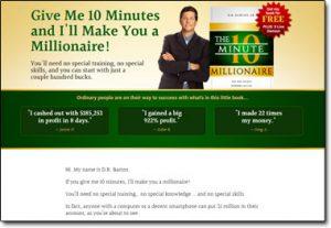 10 Minute Millionaire Insider Website Screenshot