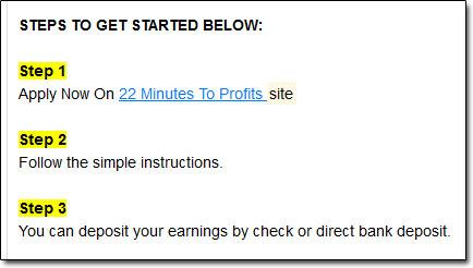 22 Minutes To Profits Steps
