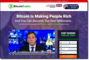 Bitcoin Trader Website Screenshot