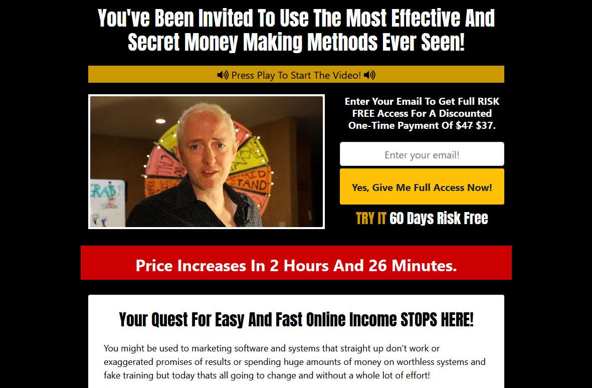 Cash Grab System Website Screenshot