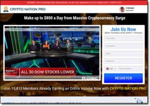 Crypto Nation Pro System Website Screenshot