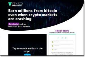 Crypto Profit System Website Screenshot