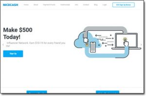 NiceCash Website Screenshot