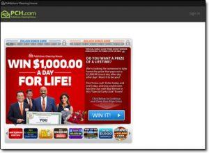 Publishers Clearing House Website Screenshot