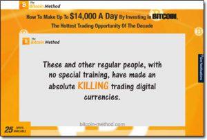 The Bitcoin Method Website Screenshot