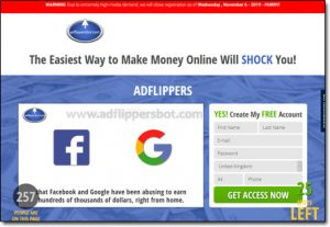 Ad Flippers Bot System Website Screenshot