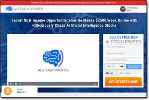 AI Stock Profits System Website Screenshot