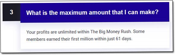 Big Money Rush FAQ