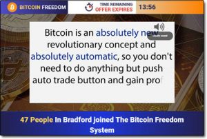 Bitcoin Freedom System Website Screenshot