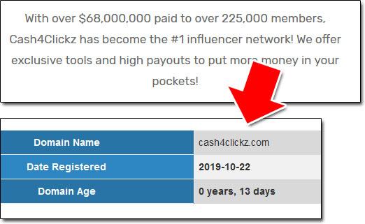 Cash4Clickz Domain Age