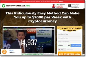 Crypto Comeback Pro Website Screenshot