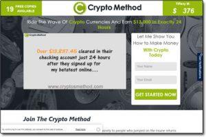 Crypto Method System Website Screenshot