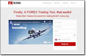 FX Revenge Trading System Website Screenshot