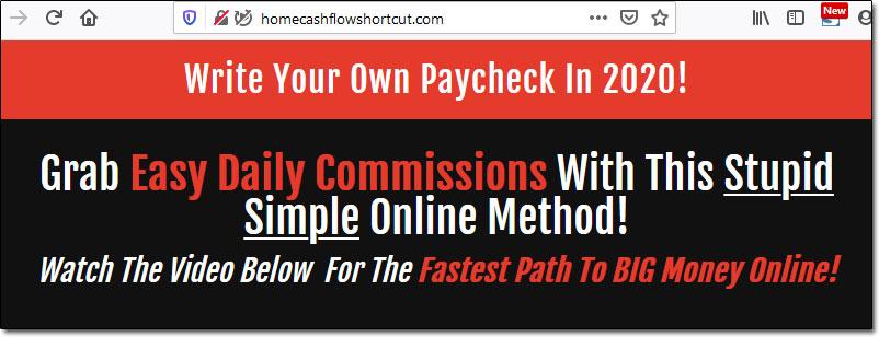 Home Cashflow Shortcut Income Claims