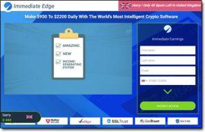 Immediate Edge System Website Screenshot