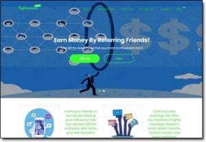 InfluencersEarn Website Screenshot