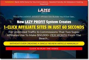 Lazee Profitz System Website Screenshot