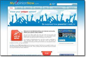 My Opinion Now Website Screenshot