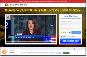Oil & Gold Stocks System Website Screenshot