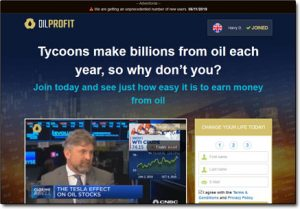 Oil Profit System Website Screenshot