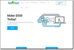 PaidLeaf Website Screenshot