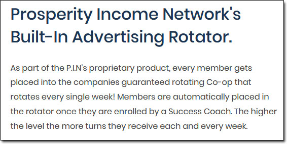 Prosperity Income Network Rotators
