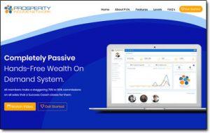 Prosperity Income Network Website Screenshot