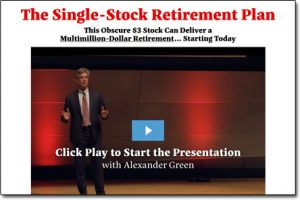 The Single Stock Retirement Plan Website Screenshot