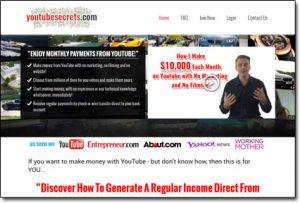 YouTube Secrets Website Screenshot