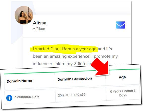Clout Bonus Domain Age