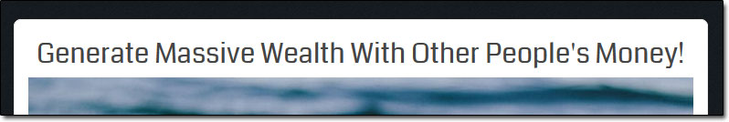 OPM Wealth Income Claim