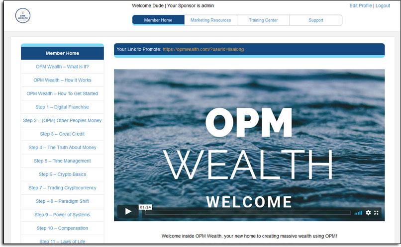 OPM Wealth Member Dashboard