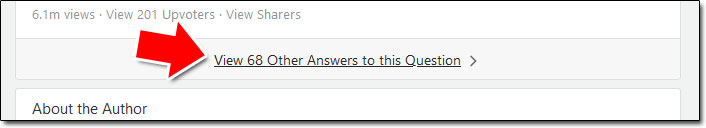 Quora Collapsed Answers