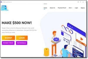 Swipe 2 Earn Website Screenshot