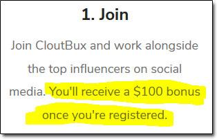 CloutBux Bonus