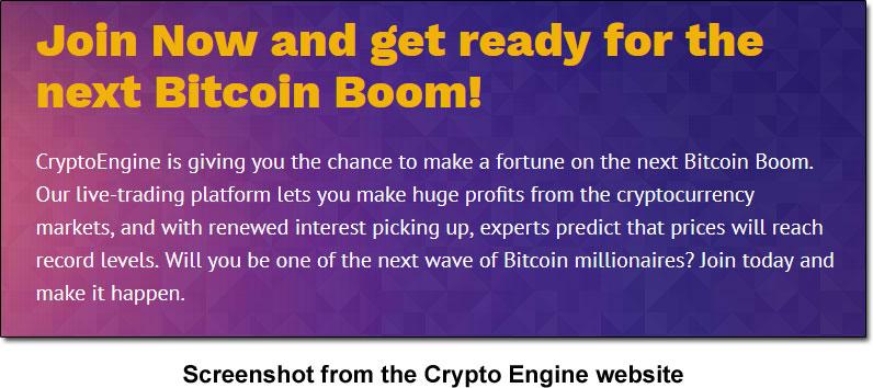 Crypto Engine Bitcoin Boom