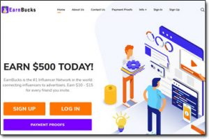 EarnBucks Website Screenshot